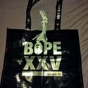 "BAPE 25 year Tote with ""Fat"" Bapesta laces."
